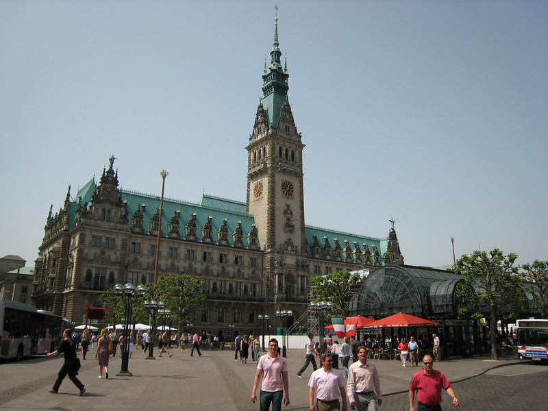 Rathaus in Hamburg, the out side was amazing, the inside even more so.