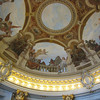 Art work on the ceiling of Rathaus.