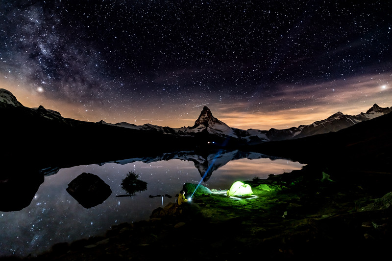 Eine Nacht am Stellisee