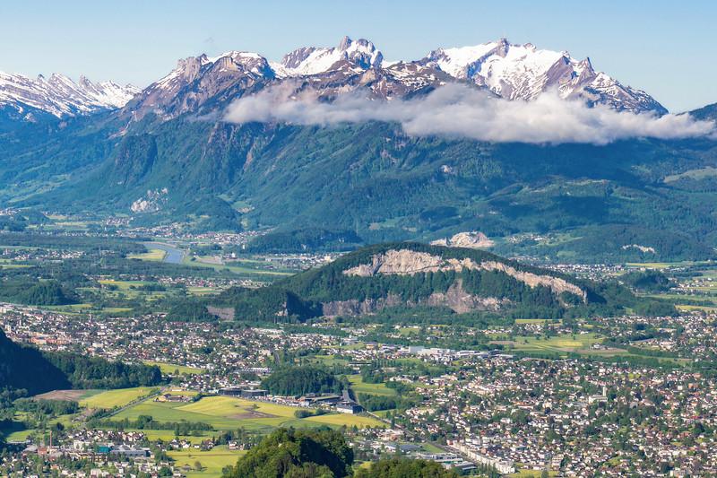 Schweizerberge mit Vorarlberger Rheintal (Detail)