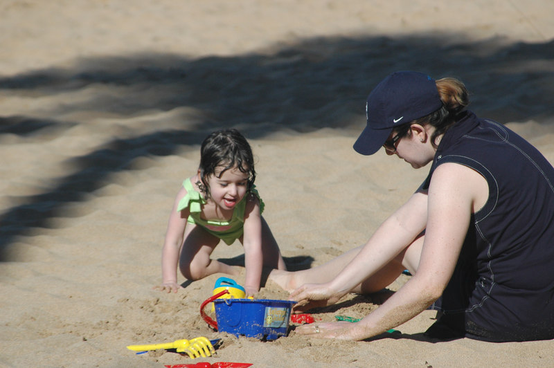 Sam loved building sand castles on the beach