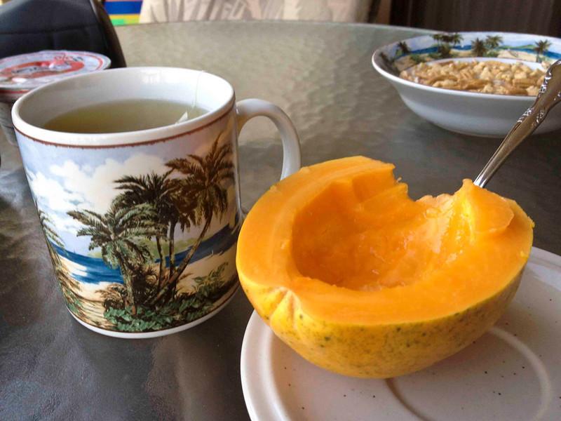 Breakfast on our Lanai