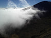Clouds moving in to the Haleakala crater