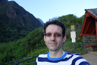 Slightly damp after a run up Iao Valley