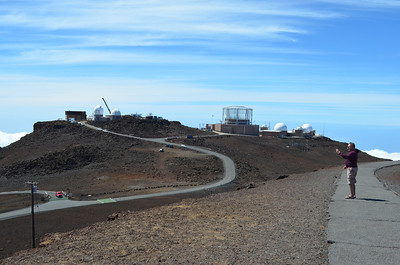 Satellite and Observatories atop Haleakala Crater