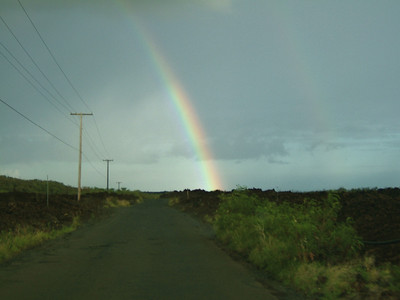 Rainbow in Makena on the way to La Perouse Bay.