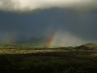 Rainbow in Makena.
