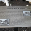 Pioneer Hotel interpretive sign.