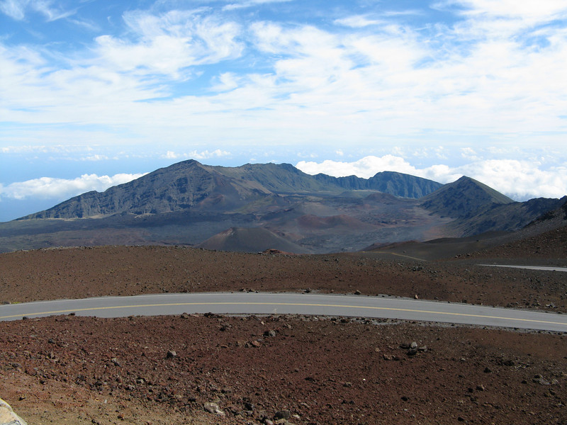 Looking across the crater.
