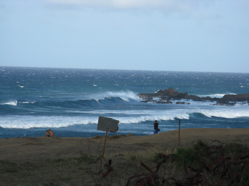 Surf was up, but it was very windy.