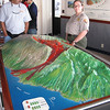The ranger explained a bit about the recent volcanic flows on Maui. The most recent eruption was in the 1700's down by the coast.