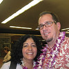 Christine and Bruce waiting for our baggage.