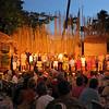 Tourists ready to learn the Hula.