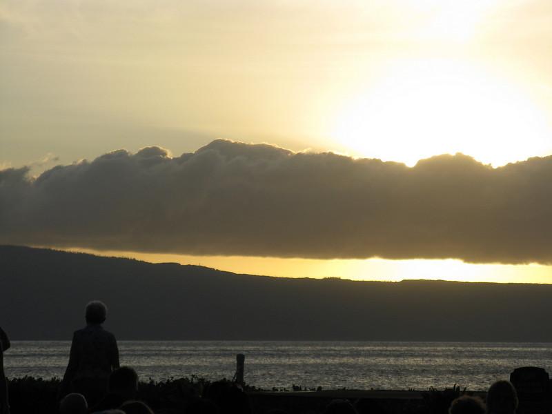 Sunset behind Lanai.