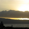 Sunset behind Lanai.