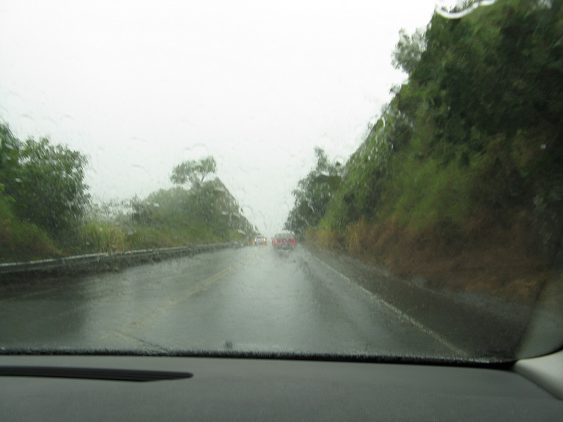 Not very good weather to drive the twisty road to Hana.