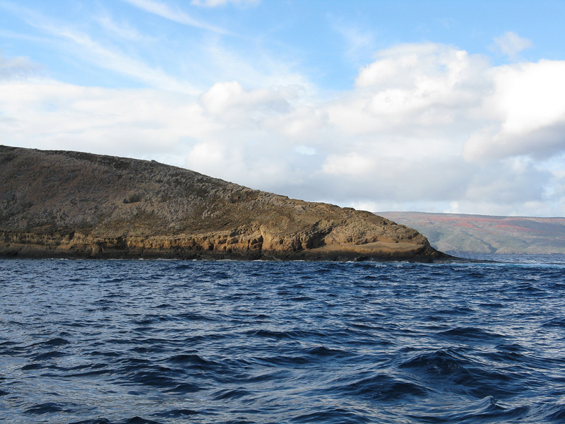 Molokini is very barren and is only inhabited by sea birds.