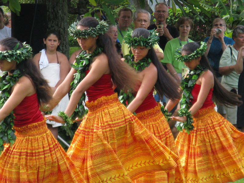 Hula dancing for us tourists.