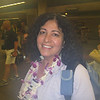 Christine at Maui Airport. Camera was cold from sitting in my carry on bag and fogged up in the warm tropical air.