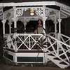 Christine in the little gazebo that Grandpa Joe built when he lived on Maui.