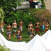 The hotel was hosting a kids hula festival. There was live entertainment in the courtyard all day.