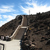 The observation building at the top of the volcano.