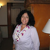 Christine in the hotel room.
