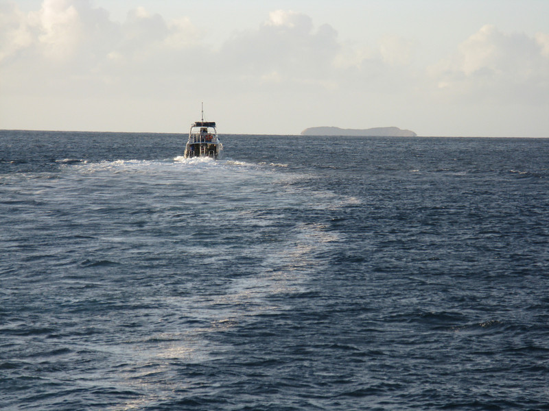 Molokini Crater in the distance.