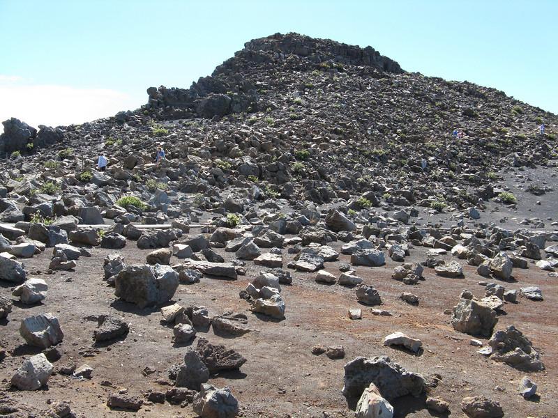 White rock hill near the upper visitor center.