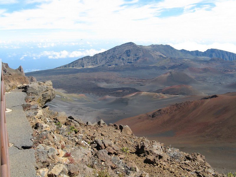 Another view of the crater from the upper visitor center.