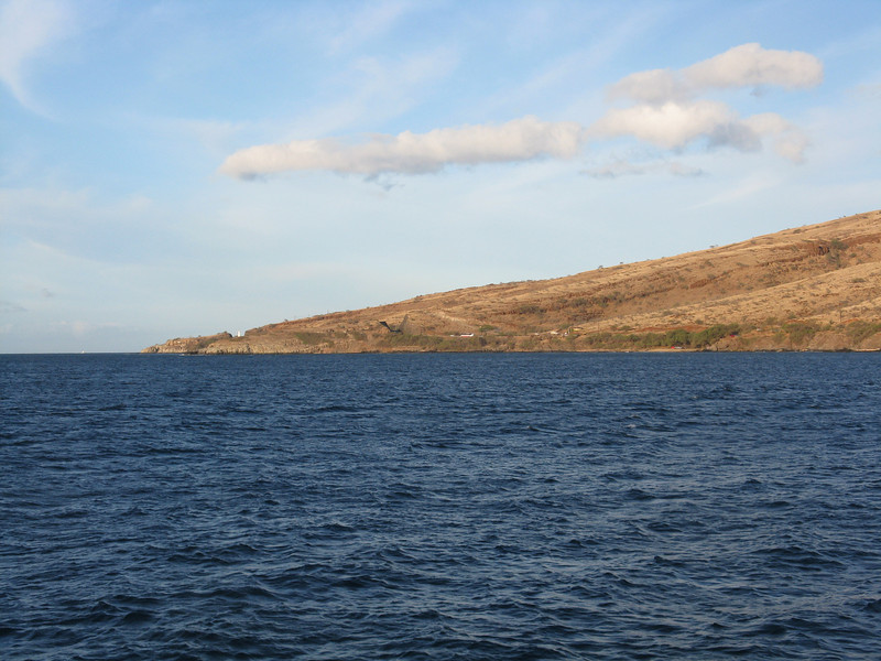 Looking west towards the Lahaina side of Maui.