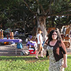 Christine at the big tree in Lahaina.