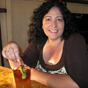 Christine enjoying a Mai-Tai in the Pioneer Inn bar.