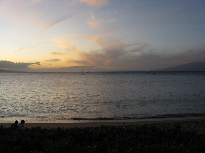 Channel between Lanai and Molokai.