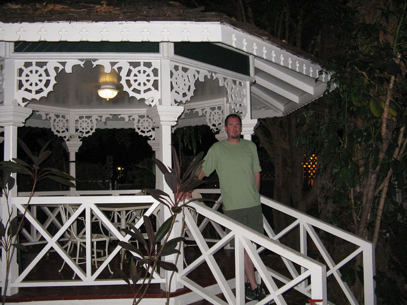 Bruce on the gazebo.