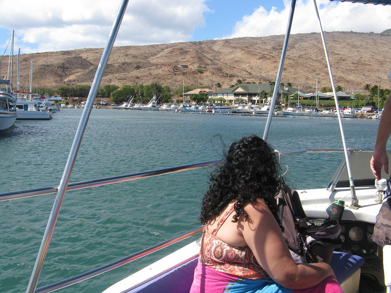 Entering the Maalaea Harbor.