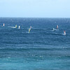 Wind surfers in Paia Bay.