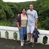 Christine and Bruce on the Oheo bridge.