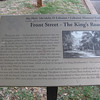 Front Street interpretive sign.
