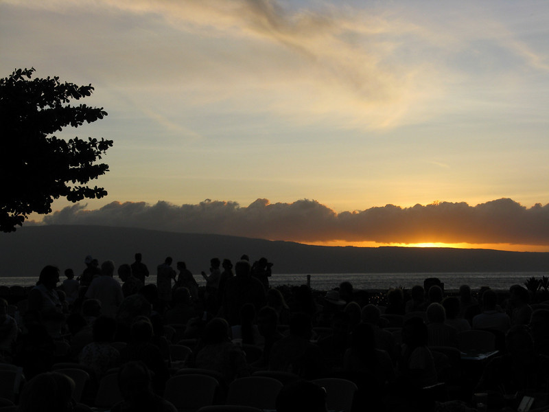 Sunset at the Luau.