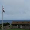 Small visitor center near the ocean.