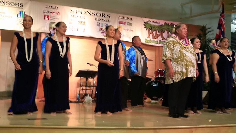 The farewell song in this Hawaiian dance show