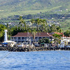 Coastal view of the dock at Maui, Hawaii.