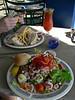 Lobster club sandwich, seafood salad and bloody mary's....a great way to start the day!