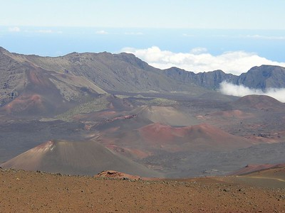 Though the mountain was created by a volcano long ago, Haleakala crater is actually actually an erosion crater, not a volcanic crater like those on the Big Island.  However, it is impressive nonetheless.