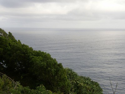 View of the Pacific as seen from Kaumahina Park.