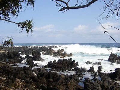Ke'anae Peninsula.  Looks like a nice place for a swim, huh?