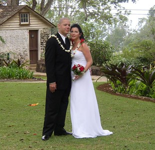 """The wedding took place on the grounds of Tedeschi Winery in what's called the """"Upcountry"""" of Maui."""
