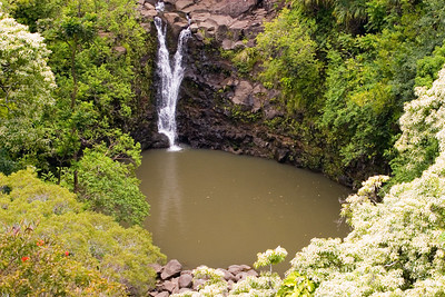 The waterfall seen in the first Jurassic Park movie.