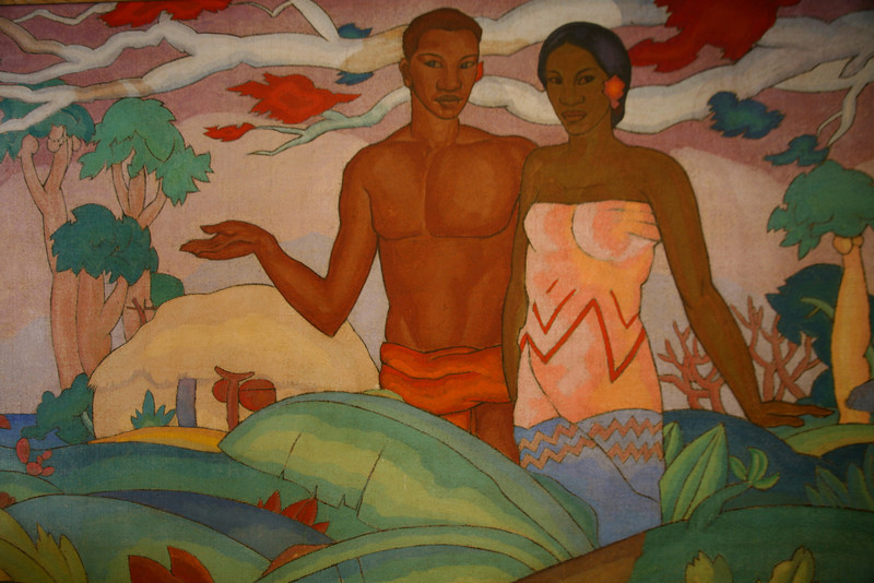 """Hawaiian Boy and Girl,"" A. T. Manookian (1904-1931)."